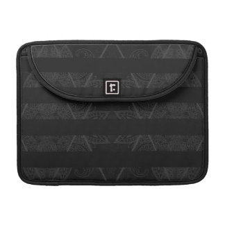 Striped Argyle Embellished Black MacBook Pro Sleeves