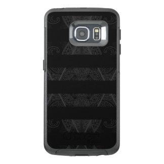 Striped Argyle Embellished Black OtterBox Samsung Galaxy S6 Edge Case