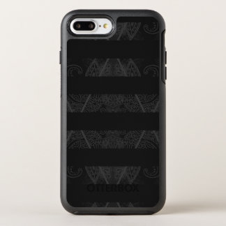 Striped Argyle Embellished Black OtterBox Symmetry iPhone 8 Plus/7 Plus Case
