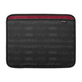 Striped Argyle Embellished Black Sleeve For MacBook Air