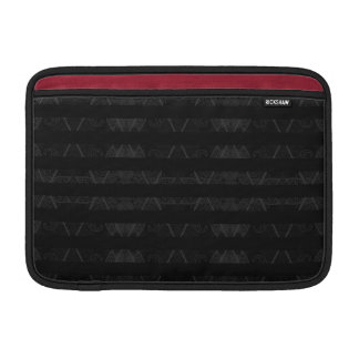 Striped Argyle Embellished Black Sleeve For MacBook Air