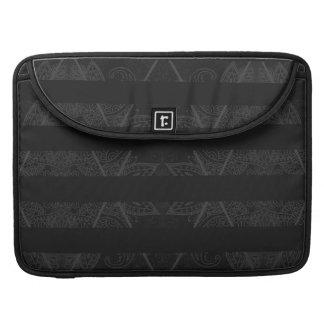 Striped Argyle Embellished Black Sleeve For MacBook Pro