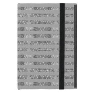 Striped Argyle Embellished Grey iPad Mini Cases