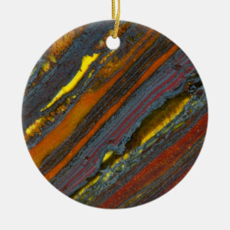 Striped Australian Tiger Eye Christmas Ornament