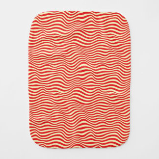 Striped background burp cloth