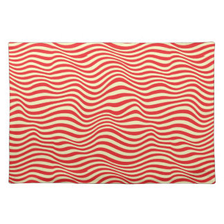 Striped background placemat