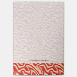 Striped background post-it notes