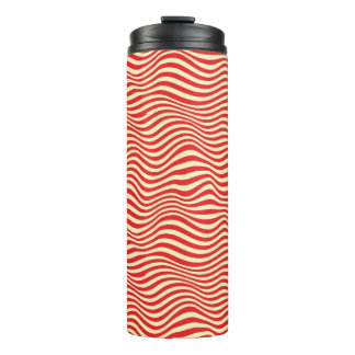 Striped background thermal tumbler