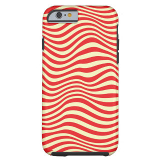 Striped background tough iPhone 6 case