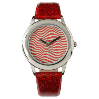 Striped background watch