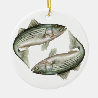 Striped Bass Ceramic Ornament