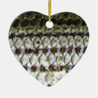 Striped Bass Fish Skin Print Christmas Ornament
