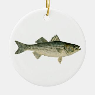 Striped Bass Logo Round Ceramic Decoration