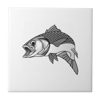 Striped Bass Small Square Tile