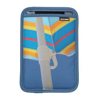Striped Beach Umbrella iPad Mini Sleeve
