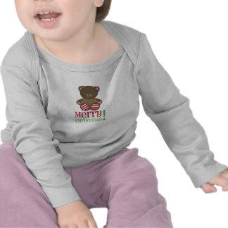 Striped Bear Merry Christmas Shirt