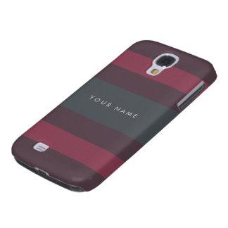 Striped Berry & Petrol Custom Galaxy S4 Case