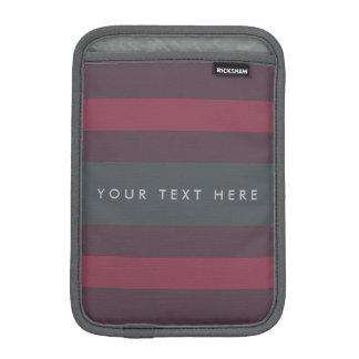 Striped Berry & Petrol Custom iPad Mini Sleeve