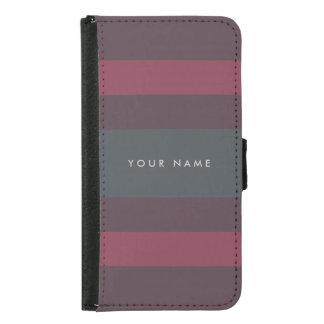Striped Berry & Petrol Custom Samsung Galaxy S5 Wallet Case