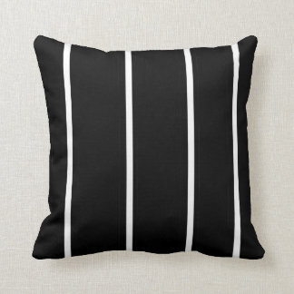 Striped Black and White > Square Throw Pillow Throw Cushions