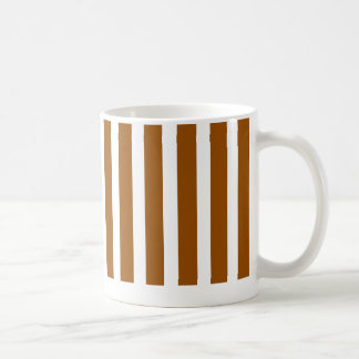 striped  bright brown mug