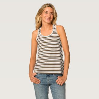 Striped Brown and White Tank Top