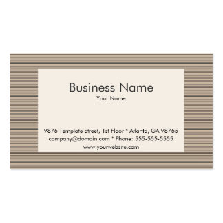 Striped Business Card Template