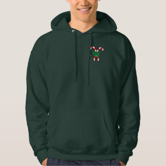 Striped Candy Canes Tied with a Bow at Christmas Sweatshirts