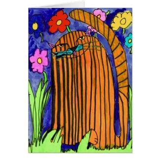 Striped Cat • Bianca Saad, Age 8  - card