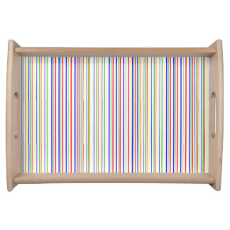 Striped Cherry Serving Tray