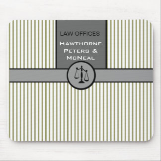 Striped Chic Patterns Law Office Attorney Mouse Pad
