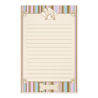Striped Chinese Crested Stationery