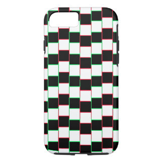 Striped Christmas Illusion Iphone Case