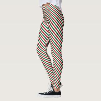 Striped Christmas Leggings