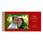 Striped Christmas Photo Card