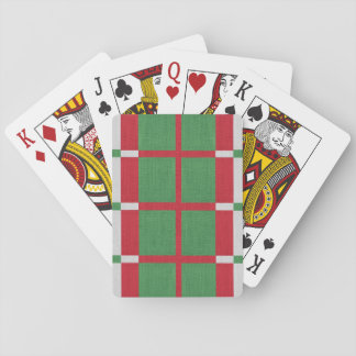 Striped Christmas Playing Cards