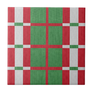 Striped Christmas Tile