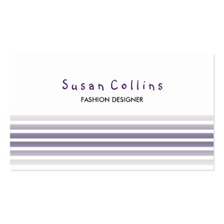Striped Clean Fashion Gray Simple Business Card