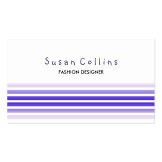 Striped Clean Fashion Slate Blue Simple Business Card Templates