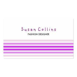 Striped Clean Fashion Voilet Simple Business Card