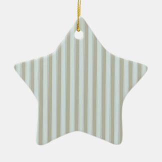 Striped Collection Ceramic Star Ornament