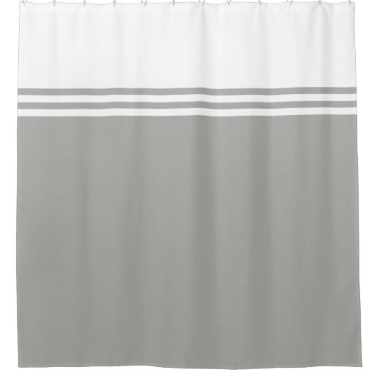 Striped, Customisable Neutral Colour Shower Curtain