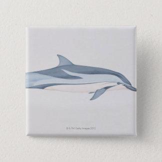 Striped Dolphin 15 Cm Square Badge