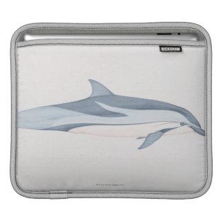 Striped Dolphin iPad Sleeve