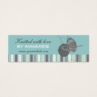 Striped Elegant Handmade Craft Handmade  Knittings Mini Business Card