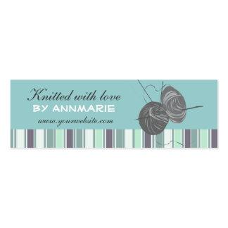 Striped Elegant Handmade Craft Handmade  Knittings Pack Of Skinny Business Cards