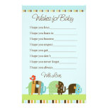 Striped Elephant Stationary Wishes for Baby Customized Stationery