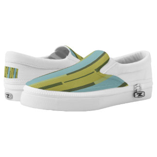 Striped flight printed shoes