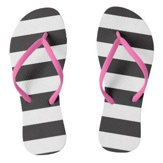 Striped! Flip Flops