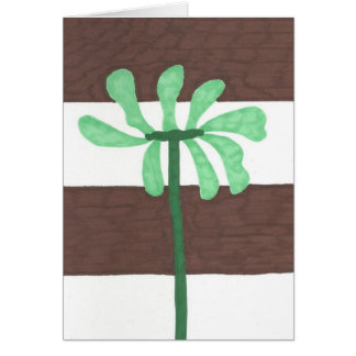 Striped Flower All Purpose Stationery Card